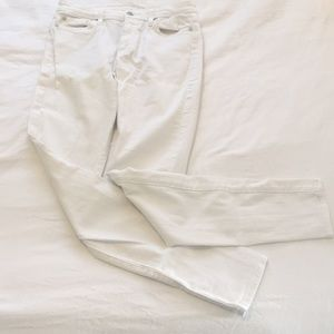 7 For All Mankind mid-rise white jeans